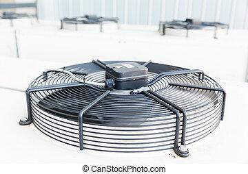 esfriando, industrial, ar condicionado