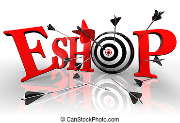 eshop red word and conceptual target