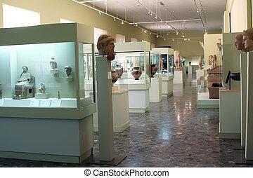 esibire, museo