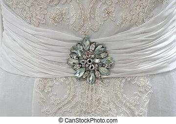 esküvő öltözködik, részletez, noha, rajnai kavicsok