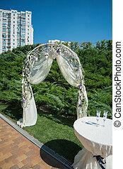 esküvő ünnepély, dekoráció, dísztér