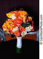 esküvő bouquet, közül, különféle, menstruáció