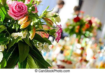 esküvő, díszebéd, dekoráció