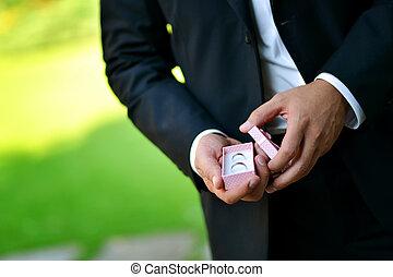 esküvő gyűrű, szekrény