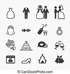 esküvő, ikon
