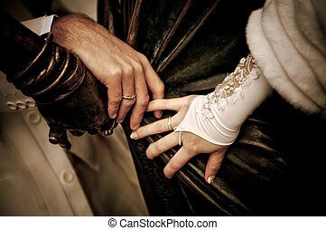 esküvő, kézbesít