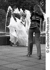 esküvő, lövés