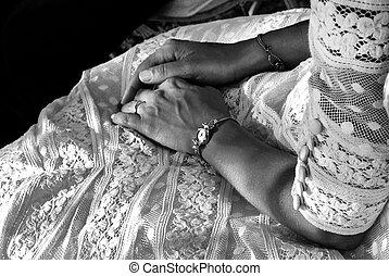 esküvő, menyasszony, részletez
