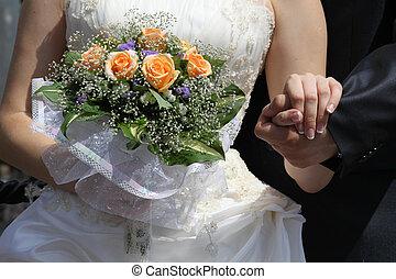 esküvő párosít, háttér