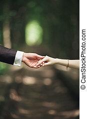 esküvő párosít, menyasszony inas, hatalom kezezés