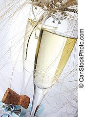 esküvő, pezsgő