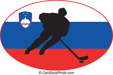 eslovenia, colores, hockey