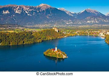 eslovenia, lago, sangrado
