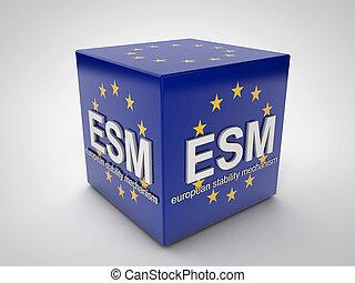 esm, európai, állékonyság, szerkezet