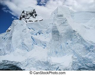 esmigalhar, antártica, iceberg