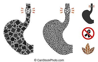 Esophageal cancer Mosaic Icon of Tremulant Elements