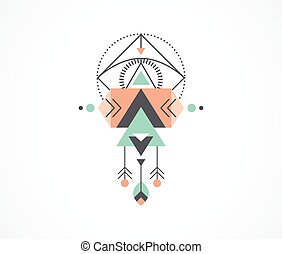 Esoteric, Alchemy, sacred geometry, tribal and Aztec, sacred geometry, mystic shapes, symbol and icon