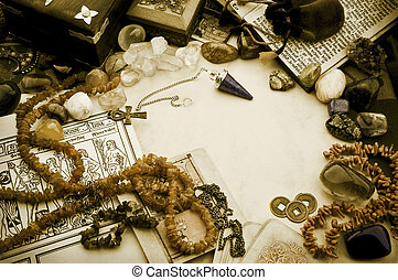 Esoteric arrangement - Still life with esoteric objects