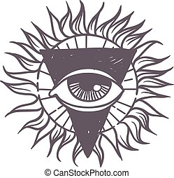 Esoteric symbol vector illustration.