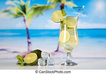 esotico, alcool, bibite, naturale, colorito, tono