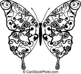 esotico, farfalla, astratto, modelli