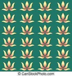 esotico, fondo., fiori, verde