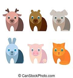 espèce, animaux, grands yeux, innocent, bébé, adorable