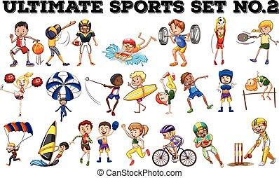 espèce, divers, sports