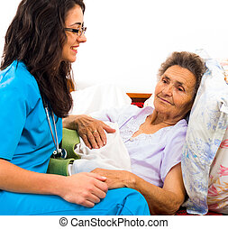 espèce, infirmière, personnes agées