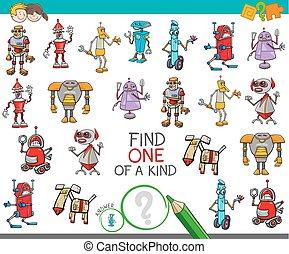 espèce, robots, une, fantasme, jeu, caractères