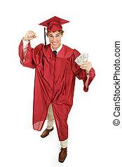 espèces, diplômé, enthousiaste