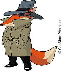 espía, zorro