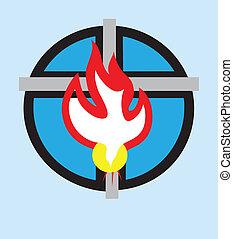 espírito, santissimo, ícone