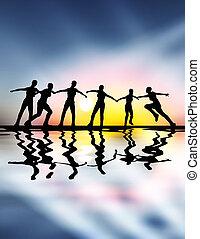 espíritu, equipo, liderazgo, -