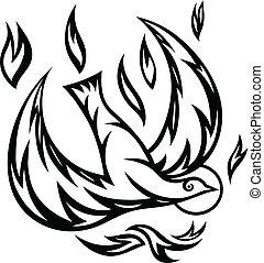 espíritu, santo, florido