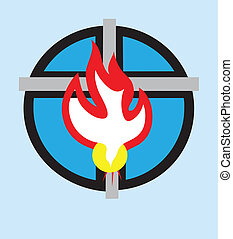 espíritu, santo, icono