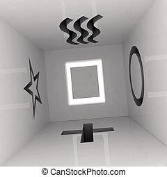 esp room 3d illustration