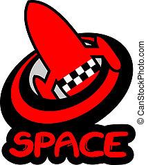 espaço, ícone
