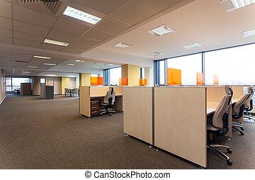 espaço aberto, em, escritório