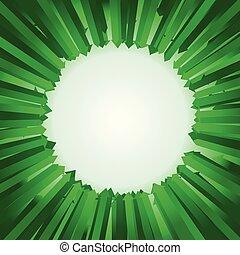 espaço, arrows., centenas, cercar, verde, em branco, cópia