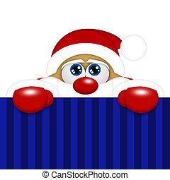 espaço, claus, cima, olhar, santa, natal