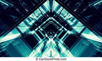 espaço, concept., technology., experiência., futur, abstratos, futurista