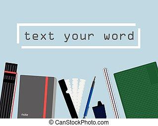espaço, estudo, trabalho, text., arquiteta, fundo, desenho, ferramentas, ou, engenheiro