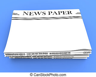 espaço, manchete, mídia, em branco, jornal, notícia, cópia,...