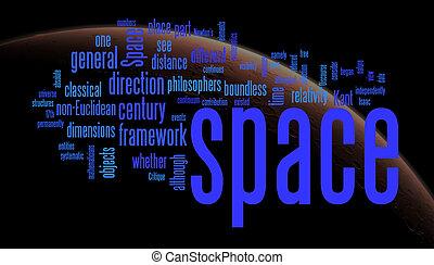 espaço, palavra, nuvens