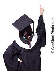 espaço, ponto, costas, graduado, dedo, cópia, vista