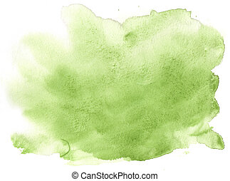 espaço, -, textura, aquarela, experiência verde, desenho, quadro, seu
