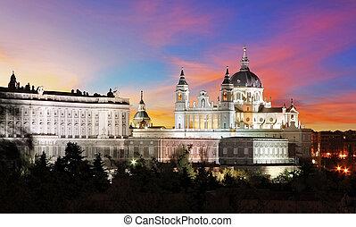 españa, madrid, catedral, almudena