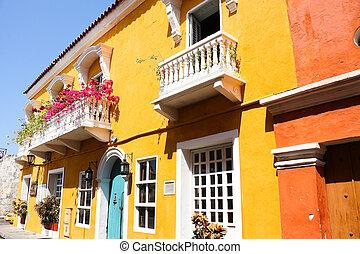 español, colonial, house.