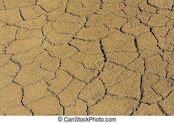 español, laguna, barro agrietado, seco, aruba, apartamentos